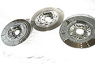 Harley Davidson Aluminum Brake Rotor Centers AFTER Chrome-Like Metal Polishing and Buffing Services / Restoration Services