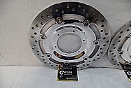 Harley Davidson Steel Brake Rotors AFTER Chrome-Like Metal Polishing and Buffing Services / Restoration Services