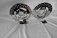Steel Brake Rotors AFTER Chrome-Like Metal Polishing and Buffing Services / Restoration Services