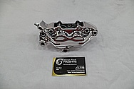 Aluminum Motorcycle Brake Caliper AFTER Chrome-Like Metal Polishing and Buffing Services / Restoration Services