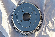 Automotive Steel Brake Rotors AFTER Chrome-Like Metal Polishing and Buffing Services