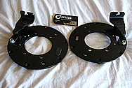 1950 Mercury Lead Sled Brake Calipers, Brake Rotors, Brackets, Etc BEFORE Chrome-Like Metal Polishing and Buffing Services / Restoration Services