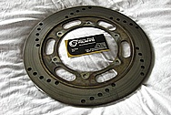 Motorcycle Steel Brake Rotors BEFORE Chrome-Like Metal Polishing and Buffing Services / Restoration Services