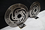 Harley Davidson Steel Brake Rotors BEFORE Chrome-Like Metal Polishing and Buffing Services / Restoration Services