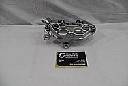 Aluminum Motorcycle Brake Caliper BEFORE Chrome-Like Metal Polishing and Buffing Services / Restoration Services