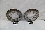 Steel Brake Rotors BEFORE Chrome-Like Metal Polishing and Buffing Services / Restoration Services