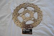 Motorcycle Steel Brake Rotor BEFORE Chrome-Like Metal Polishing - Steel Polishing