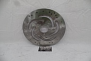 2009 Harley Davidson Rocker Motorcycle Steel Brake Rotor BEFORE Chrome-Like Metal Polishing and Buffing Services / Restoration Services - Stainless Steel Polishing Services