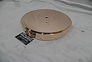 Vintage Brass Record Turntable Piece AFTER Chrome-Like Metal Polishing - Brass Polishing Service - Vintage Polishing Service