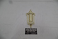 Brass Door Knocker AFTER Chrome-Like Metal Polishing - Brass Polishing Service - Vintage Polishing Service