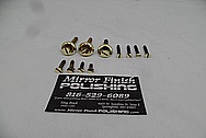 Brass Door Parts AFTER Chrome-Like Metal Polishing - Brass Polishing Service - Vintage Polishing Service