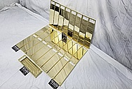 Brass Keyboard AFTER Chrome-Like Metal Polishing - Brass Polishing - Brass Polishing - Manufacturer Polishing