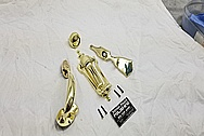 Brass Door Knob, Door Knocker and Hardware AFTER Chrome-Like Metal Polishing - Brass Polishing - Door Hardware Polishing