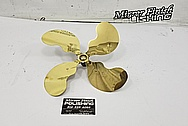 Brass Fan Blade AFTER Chrome-Like Metal Polishing and Buffing Services / Restoration Services - Brass Polishing