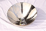 Brass Light Fixture Reflector AFTER Chrome-Like Metal Polishing and Buffing Services