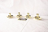 Brass Candlestick Holdersl AFTER Chrome-Like Metal Polishing and Buffing Services / Restoration Services