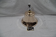 Brass Train Bell AFTER Chrome-Like Metal Polishing and Buffing Services / Restoration Services