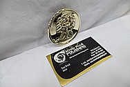 Brass Belt Buckles AFTER Chrome-Like Metal Polishing and Buffing Services / Restoration Services