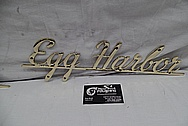 Brass Egg Harbor Sign AFTER Chrome-Like Metal Polishing and Buffing Services / Restoration Services