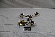 Brass Eagle Lantern Light Fixture and Chains AFTER Chrome-Like Metal Polishing and Buffing Services / Restoration Services