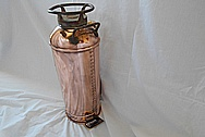 Brass Fire Extinguisher Tank AFTER Chrome-Like Metal Polishing - Brass Polishing