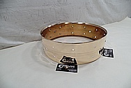 Brass Snare Drum Shell AFTER Chrome-Like Metal Polishing and Buffing Services - Brass Polishing Service