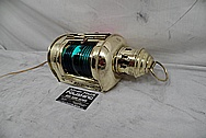 Brass Boat Light Housing AFTER Chrome-Like Metal Polishing and Buffing Services - Brass Polishing Service