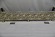 Brass Fireplace Surround / Guard AFTER Chrome-Like Metal Polishing and Buffing Services - Brass Polishing Service