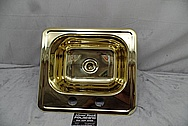 Brass Sink AFTER Chrome-Like Metal Polishing - Brass Polishing Service