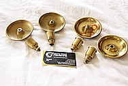 Brass Candlestick Holdersl BEFORE Chrome-Like Metal Polishing and Buffing Services / Restoration Services