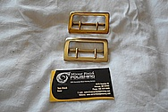Brass Belt Buckles BEFORE Chrome-Like Metal Polishing and Buffing Services / Restoration Services