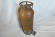 Brass Fire Extinguisher Tank BEFORE Chrome-Like Metal Polishing - Brass Polishing