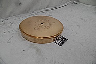 Vintage Brass Record Turntable Piece BEFORE Chrome-Like Metal Polishing - Brass Polishing Service - Vintage Polishing Service