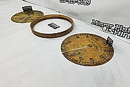 Brass Dial BEFORE Chrome-Like Metal Polishing and Buffing Services - Brass Polishing Service