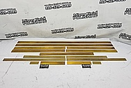 Brass Trim Pieces BEFORE Chrome-Like Metal Polishing and Buffing Services / Restoration Services - Brass Polishing - Shell Polishing