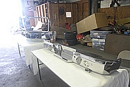 2015 Chevy 3500 Series Dually Truck Rear Black Powdercoated Iron Cross Bumper AFTER Chrome-Like Metal Polishing and Buffing Services / Restoration Services