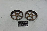 Toyota Supra Steel Cam Gears BEFORE Chrome-Like Metal Polishing and Buffing Services - Steel Polishing