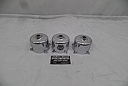 Jaguar Aluminum Carburetor Dash Pots AFTER Chrome-Like Metal Polishing and Buffing Services - Aluminum Polishing Services