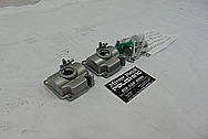 Aluminum Carburetor and Carburetor Bowls BEFORE Chrome-Like Metal Polishing and Buffing Services - Aluminum Polishing Services - Carburetor Polishing