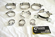 Steel Clamps AFTER Custom Metal Polishing and Buffing Services