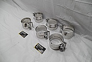 Steel Exhaust Clamps AFTER Chrome-Like Metal Polishing and Buffing Services / Restoration Services