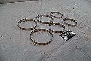 Steel Exhaust Clamps BEFORE Chrome-Like Metal Polishing and Buffing Services / Restoration Services