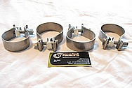 Steel T-Bolt Clamps BEFORE Chrome-Like Metal Polishing and Buffing Services