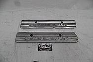 Ford GT500 Aluminum Coil Cover Set BEFORE Chrome-Like Metal Polishing - Aluminum Polishing Services PLUS Custom Painting Services