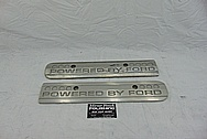 Ford Mustang Cobra Coil Covers BEFORE Chrome-Like Metal Polishing - Aluminum Polishing Services - Coil Cover Polishing