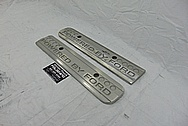 Ford Mustang Cobra Coil Covers BEFORE Chrome-Like Metal Polishing - Aluminum Polishing Services - Coil Cover Polishing