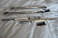 Aluminum Control Arm Pieces AFTER Chrome-Like Metal Polishing - Aluminum Polishing