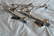 Aluminum Control Arm Pieces AFTER Chrome-Like Metal Polishing - Aluminum Polishing