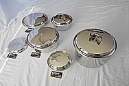 Stainless Steel Pots, Pans and Lids AFTER Chrome-Like Metal Polishing - Stainless Steel Polishing