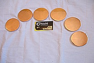 Copper Discs AFTER Custom Metal Polishing and Buffing Services
